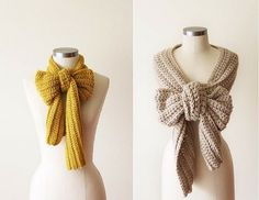 Bow Knit Scarves