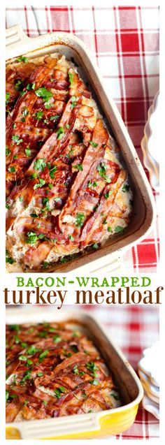 Bacon Wrapped Turkey Meat Loaf