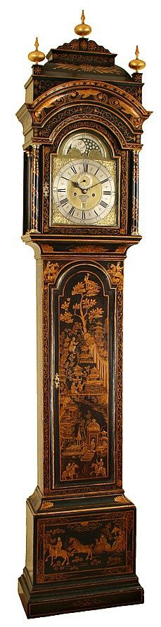 18th Century Chinoiserie decorated Longcase Clock by Estwick of London