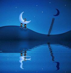 Gif e immagini buonanotte – goodnight moon gif image