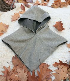 VIKING Woolen HOOD CAPE replica from Norway Two Layers Wool and Linen Vikings…