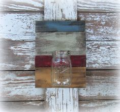 Colorful Mason Ball Jar Wall Decor bu Country Akers http://www.etsy.com/shop/CountryAkers