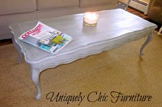 French Provincial Gray Blue Coffee Table  Reserved for by suezcues, $165.00