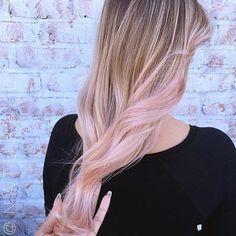 Beautiful pastel tones by Lena  #pastelhair #pinkhair #rosegold #balayage…