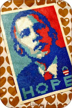 Obama - made w. beads from Hama :-) Make it O.!