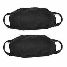 Plain Black Mouth Masks