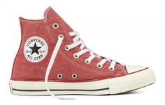 CONVERSE CHUCK TAYLOR ALL STAR HI TOP ENAMEL RED/ENAMEL RED/WHITE