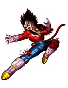 Vegeta SSJ 4 Vegeta Super Saiyan 4, Dbz Characters, Fictional Characters, Prince, Braveheart, Dragon Ball Gt, Joker, Animation, Superhero