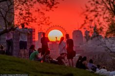 sunsets taken from Greenwich Park in London, was posted to Instagram byM...