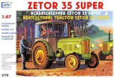 Zetor 35 Super s kabinou (stavebnice v měřítku1:87) Agriculture Tractor, Semi Trucks, Scale Models, Tractors, 1, Tech, Scale Model, Technology, Big Rig Trucks