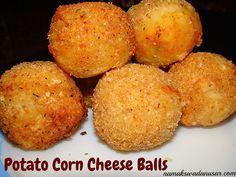 Potato Corn Cheese Balls | Party snack