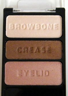 These are dupes for MAC's Shroom, Mulch and Naked Lunch. Wet'n'Wild Walking on Eggshells palette. My fav eyeshadow ever.