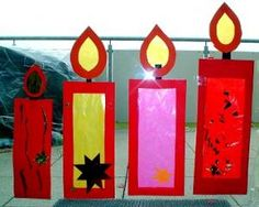 Window candles - Christmas crafts - My grandson and I - Made with schwedesign.de