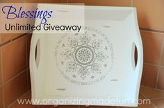 Blessings Unlimited Giveaway - Tray