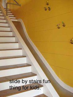 Slide next to stairs. @Molly Simon Simon White