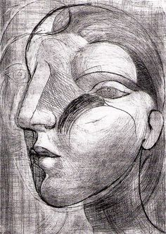 'marie therese' by pablo picasso Pablo Picasso Drawings, Picasso Sketches, Art Picasso, Henri Rousseau, Henri Matisse, Georges Braque, Spanish Painters, Spanish Artists, Francisco Goya