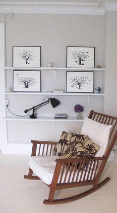 skimming stone + white - group of themed frames