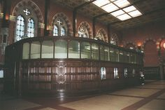 The ticket office at St Pancras Station in 1998. Photo by translboro