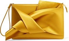 No. 21 - #Knot #Satin #Clutch - #Saffron, made in #Italy. http://shopstyle.it/l/eQj