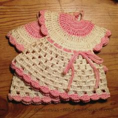 Vintage Crocheted Dress Potholder