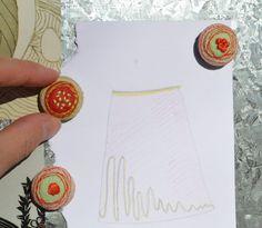 Handmade felt and fabric magnets gift set by GabiDesignLLC on Etsy