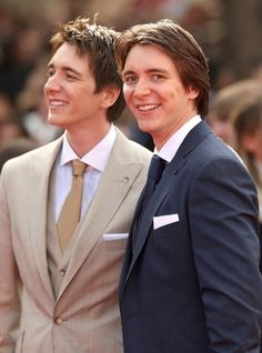 Oliver and James Phelps (James' dimple tho omg)
