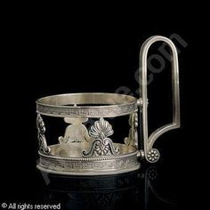 FABERGÉ Karl (Carl), 1846-1920 (Russia) Title : A Tea Glass Holder Date : 1896/1908   Category : Silver Medium : : Silver, 5 oz. (155 gr.)