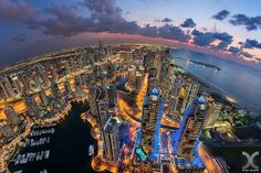 Dubai - Glittering Marina by Daniel Cheong on Urban Photography, Amazing Photography, Landscape Photography, Design Spartan, Hdr Pictures, Living In Dubai, Inspirational Wallpapers, Outdoor Photos, City Landscape