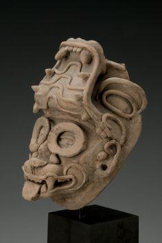 Veracruz Head Fragment of Tlaloc, Classic, ca. Ancient Aliens, Ancient Art, Ancient History, Mexico Art, Mexica, Mesoamerican, Head Tattoos, Ocean Art, Ancient Civilizations