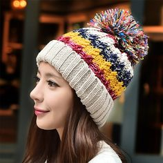 >> Click to Buy << New Korean hand knitted hat warm wool Winter Hat female cute color Millinery snow cap women fashion hat #Affiliate