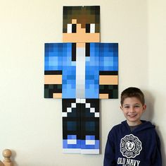 Headcraft Wall Art: Life-Size CUSTOM skin by player name for your kid's room!!