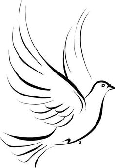 Dove Tattoos symbolize peace, harmony, hope, and many other beautiful meanings for people. Here are the best Dove Tattoos you can find online. Dove Tattoo Design, Tattoo Designs, Wood Burning Patterns, Painted Rocks, Painted Wood, Hand Painted, Line Art, Small Tattoos, Coloring Pages