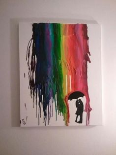 LOVE melted crayon art is beautiful. Click through for other melted crayon art ideas. Cute Crafts, Diy Crafts, Cuadros Diy, Crayon Art, Crayon Crafts, Melting Crayons, Crafty Craft, Cool Art, Art Projects