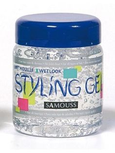 lot 3 gels coiffant samouss styling effet mouille 500ml neuf