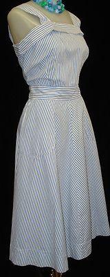 cute sun dress, love the pinstripe