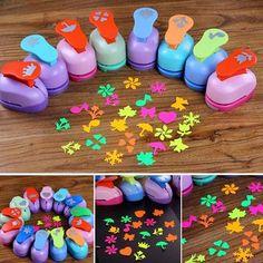 Mini Paper - Punch Hole Puncher DIY Scrapbook Cards Art Cutter Tool Multi-patterns (Random) by DOM - Mini Paper Diy Karton, Cool School Supplies, Diy And Crafts, Paper Crafts, Hole Puncher, Cute Stationary, Mini Craft, Paper Punch, Barbados
