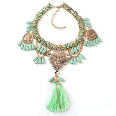 Green Super Cute  Necklace