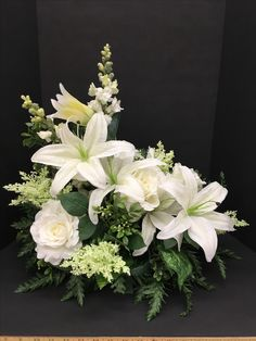 Lily silk flower arrangement Easter Church arrangement