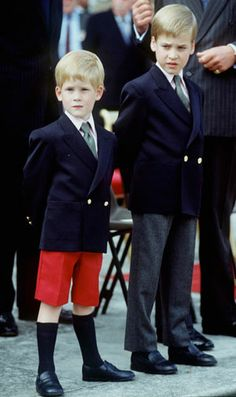 William and Harry attend their first official event at Kensington Palace in 1989