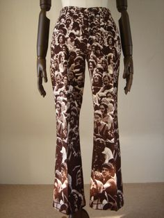 woodstock print bellbottoms!!!!