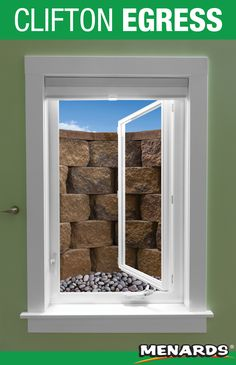 Keep soil and moisture back from your basement window while allowing in extra daylight with this beautifully textured Clifton block wall. This project can be completed in a variety of different colors to perfectly match your landscape. Egress Window, Window Well, Basement Windows, Landscape Materials, Block Wall, Building Materials, Landscaping, Colors, Frame