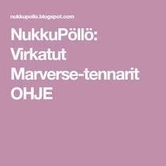 NukkuPöllö: Virkatut Marverse-tennarit OHJE Logos, Logo