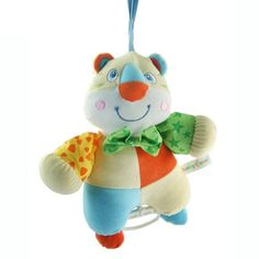 Play & Grow Tiger Take Along Toy with Music Plush toy keeps babies entertained. Builds coordination by rewarding baby's pulls and grabs with fun sounds. Head with music box. Perfect toy for the car seat, baby carrier or crib. Adorable designs and squishy plush feel.  #NBToys #BabyProduct