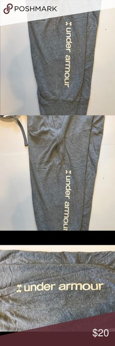 Under Armour Joggers Youth XL Grey Joggers Capri Length Under Armour Bottoms Sweatpants & Joggers