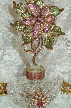 Antique Bejeweled Perfume Bottle!!!
