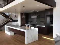 This Kitchen is just about finished, I love the scale of the Island in this space.