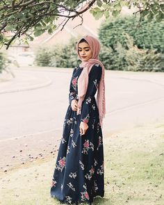 So excited for Eid! 🌙✨ This beautiful dress is from 🌺 PS: they are still doing deliveries for Eid if you're shopping last minute like me😅 . Hijab Fashion Summer, Abaya Fashion, Modest Fashion, Eid Outfits, Dress Outfits, Fashion Outfits, Muslim Women Fashion, Islamic Fashion, Beautiful Hijab