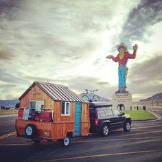 Pop Up Trailer converted into Micro Cabin on Wheels