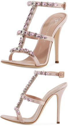 Giuseppe Zanotti crystal-embellished satin sandal