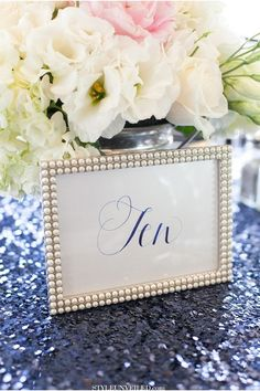 Set Of 10 Pearl Frames 5x7 Photo Frames Picture Table Numbers Gatsby Pearls Wedding | Tradesy Weddings